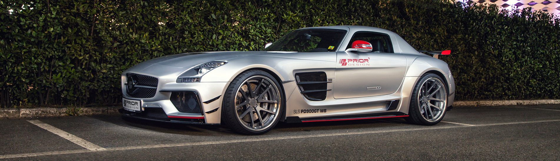 Mercedes SLS with KW HLS Hydraulic Lift System