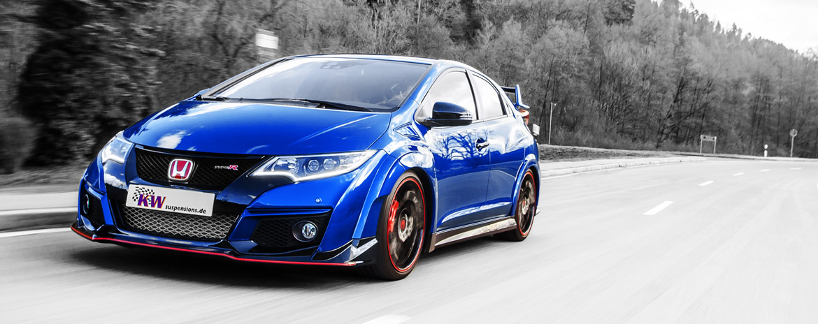 KW coilovers in a Honda Civic Type R