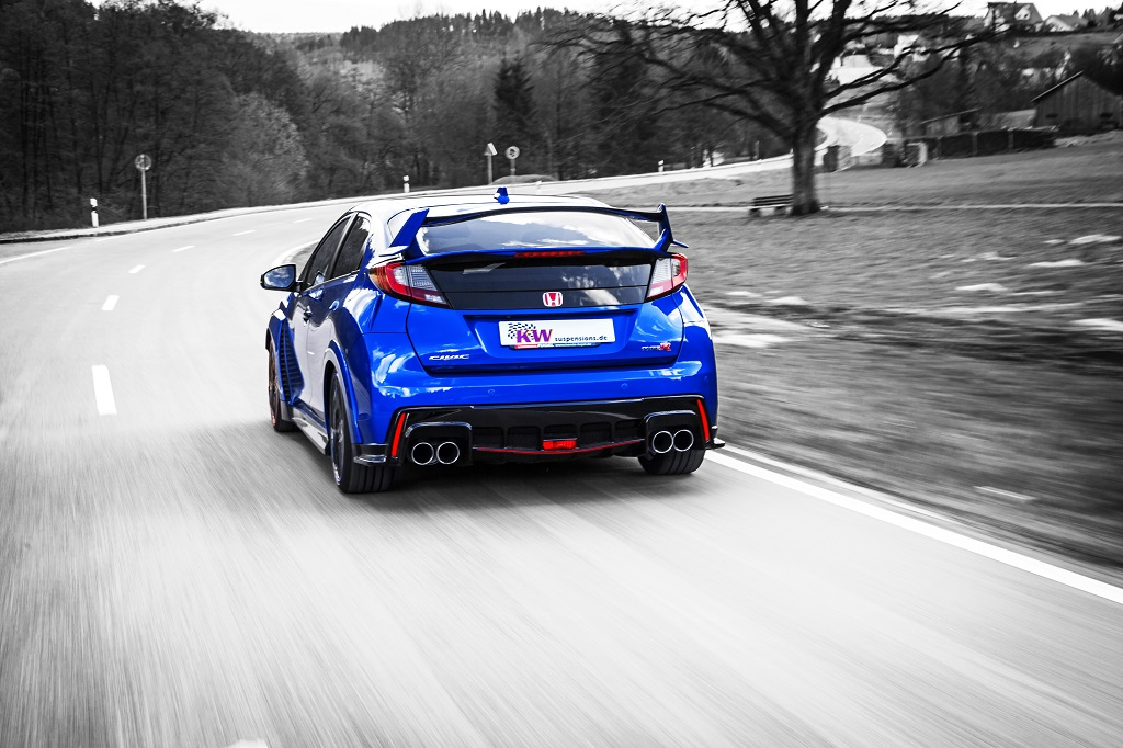 KW Clubsport and Variant 3 coilovers in a Honda Civic Type R