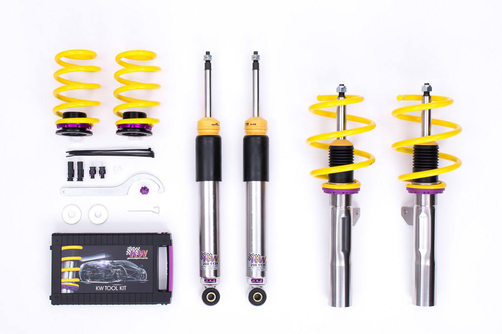 KW street performance coilovers for a Mini