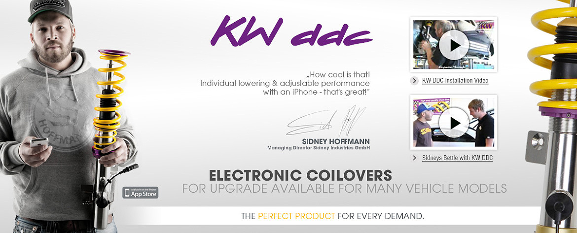 KW DDC coilovers presented by Sidney Hoffmann